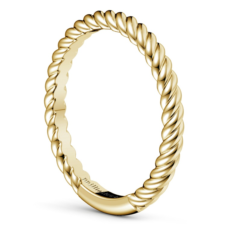 Twisted Rope Wedding Ring in Yellow Gold | 04