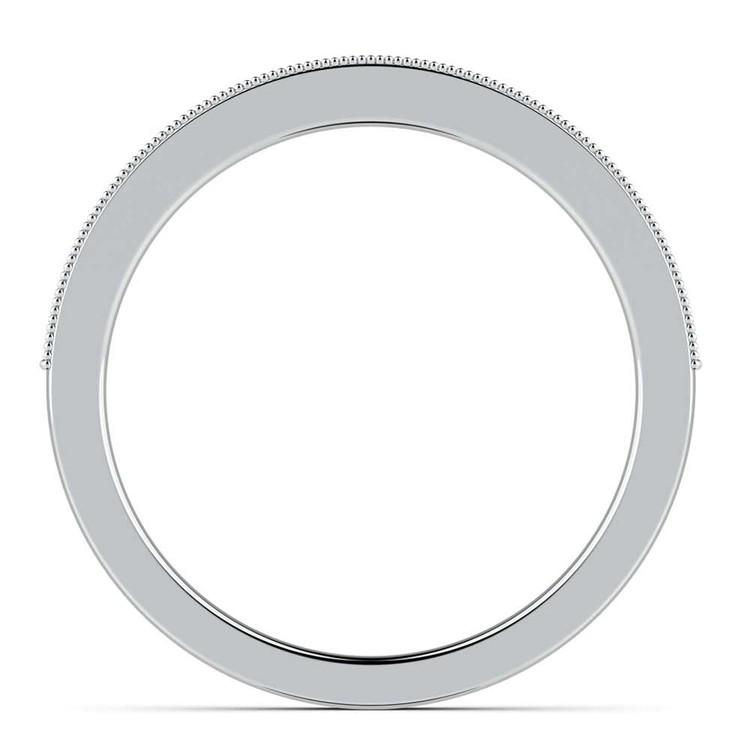Vintage Milgrain Diamond Wedding Ring in Platinum | 03