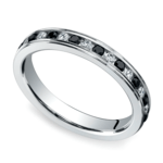 White & Black Diamond Eternity Ring in White Gold | Thumbnail 01