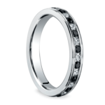 White & Black Diamond Eternity Ring in White Gold | Thumbnail 02