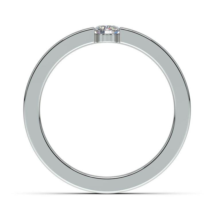 """我承诺"" Round Diamond Promise Ring in White Gold (3.75mm) | 03"