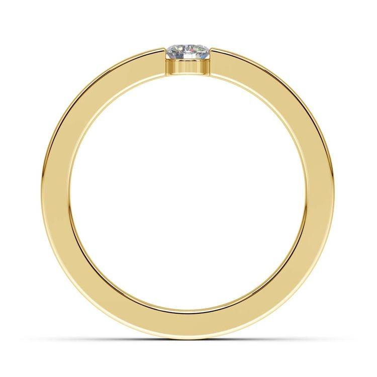 """我承诺"" Round Diamond Promise Ring in Yellow Gold (3.75mm) | 03"