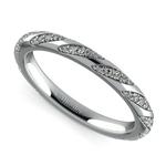 Wrapped Ribbon Diamond Wedding Band in Platinum | Thumbnail 01