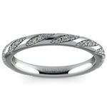 Wrapped Ribbon Diamond Wedding Band in Platinum | Thumbnail 02