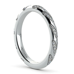 Wrapped Ribbon Diamond Wedding Band in Platinum | Thumbnail 04