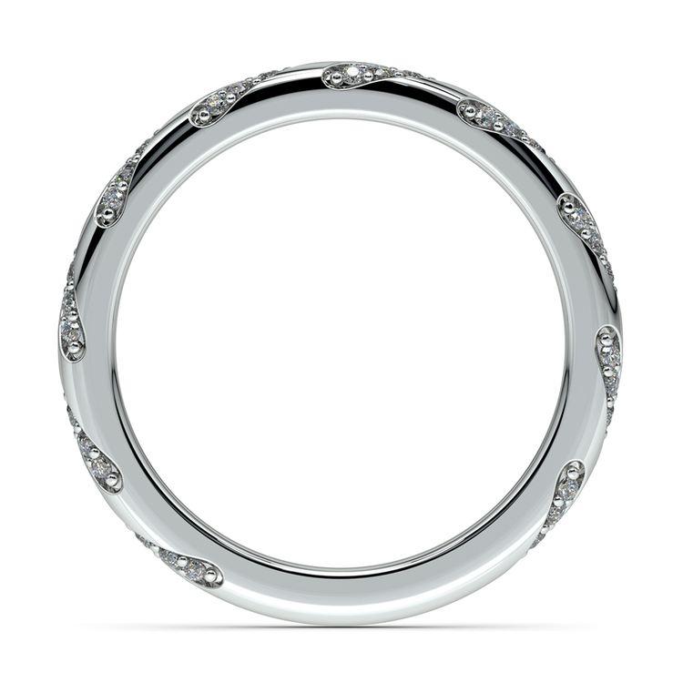 Wrapped Ribbon Diamond Wedding Band in Platinum | 03