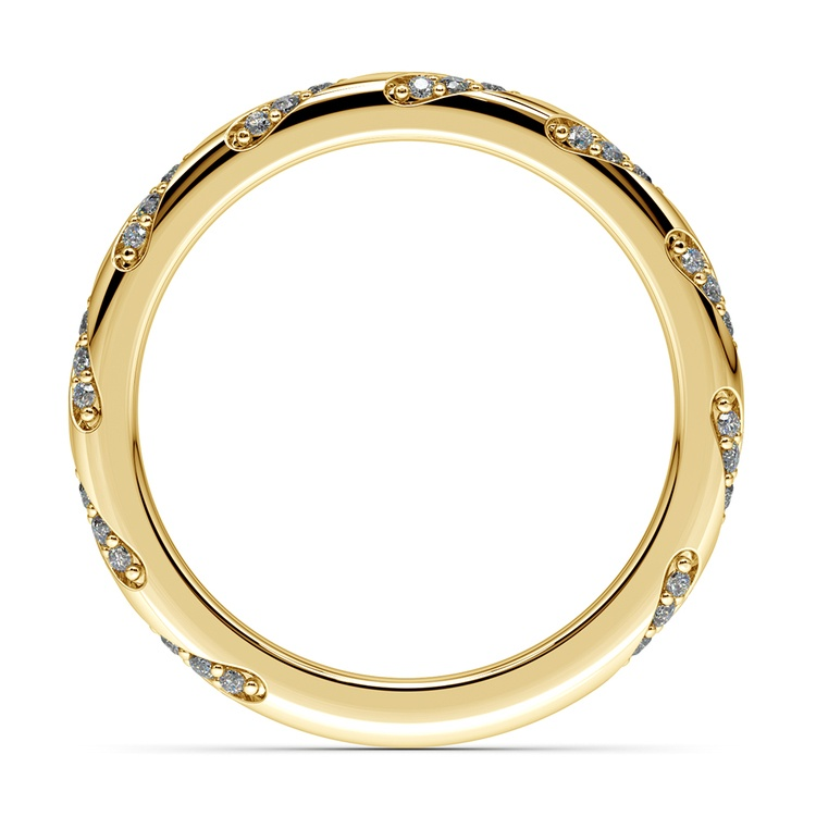 Wrapped Ribbon Diamond Wedding Band in Yellow Gold | 03