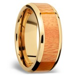 Rich Autumn - 14K Yellow Gold Mens Band with Osage Orange Inlay | Thumbnail 02