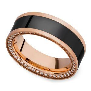 Zeus - Reverse Bevel Rose Gold Diamond Elysium Ring