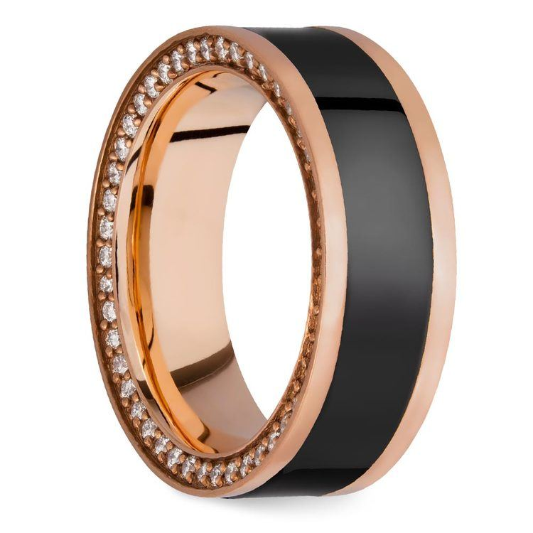 Zeus - Reverse Bevel Rose Gold Diamond Elysium Ring | 02
