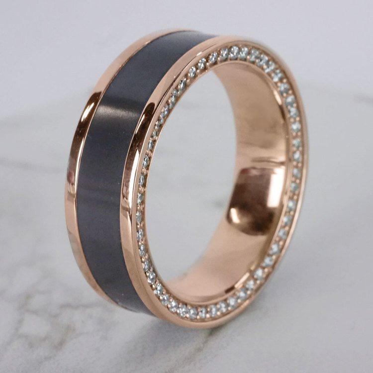 Zeus - Reverse Bevel Rose Gold Diamond Elysium Ring | 06