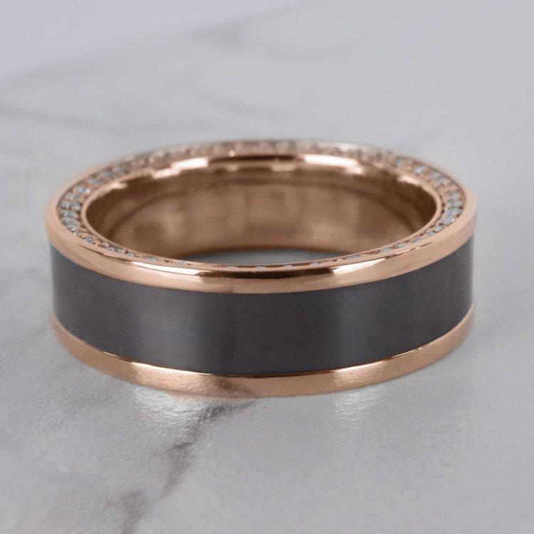 Zeus - Reverse Bevel Rose Gold Diamond Elysium Ring | 07