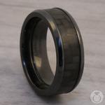 Back in Black - Zirconium & Carbon Fiber Mens Band | Thumbnail 04