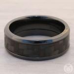 Back in Black - Zirconium & Carbon Fiber Mens Band | Thumbnail 05