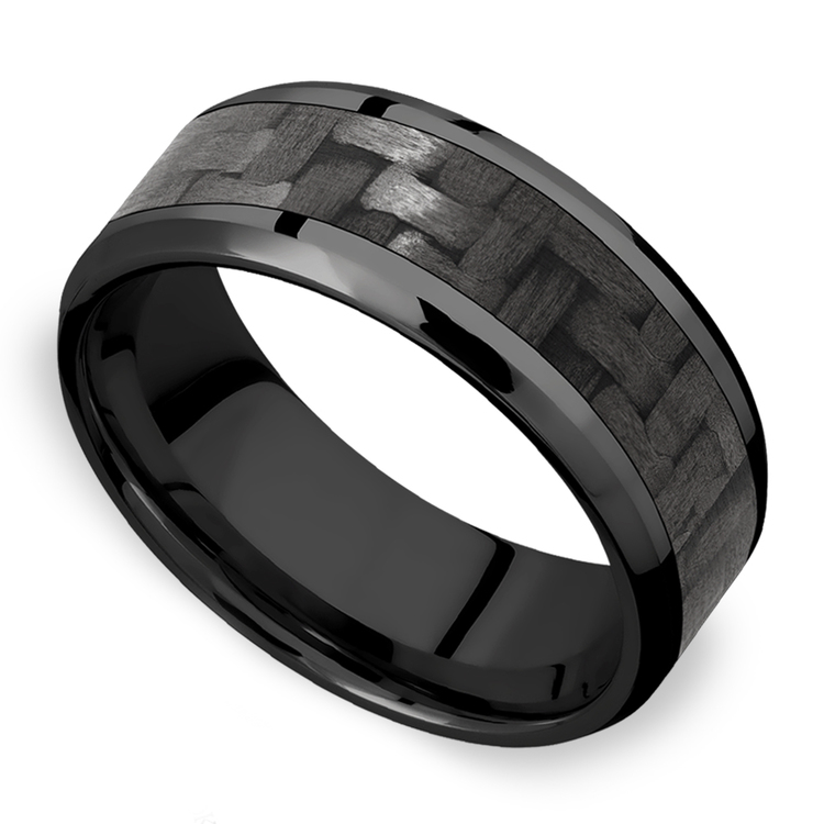 Back in Black - Zirconium & Carbon Fiber Mens Band | 01