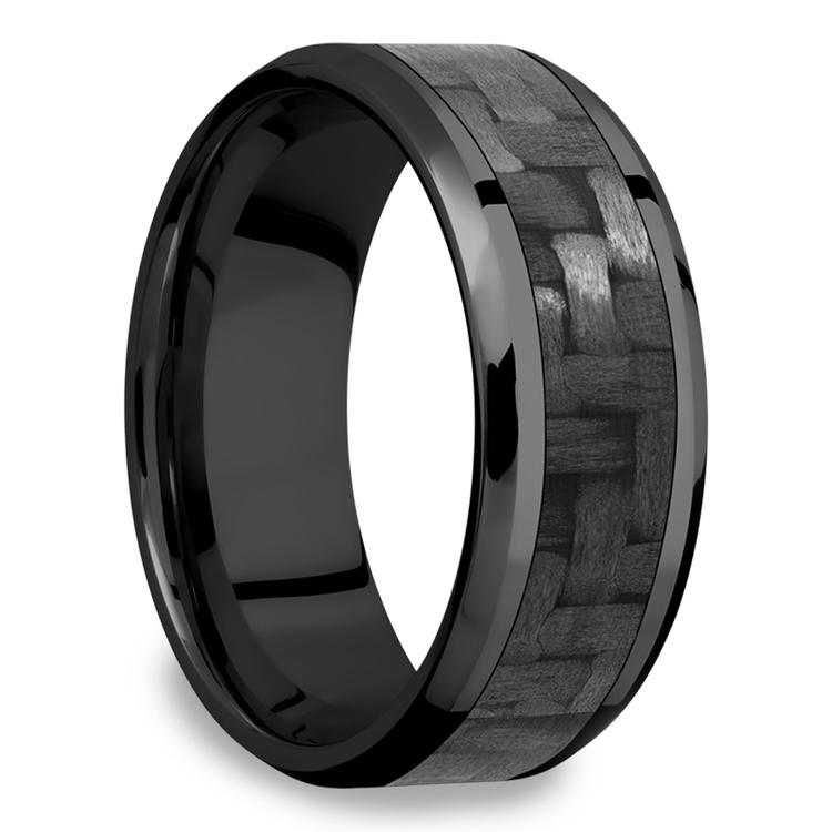 Back in Black - Zirconium & Carbon Fiber Mens Band | 02