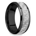 Carbon Angel - Zirconium & Carbon Fiber Mens Band | Thumbnail 02