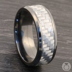 Carbon Angel - Zirconium & Carbon Fiber Mens Band | Thumbnail 05