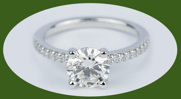 scalloped diamond engagement ring