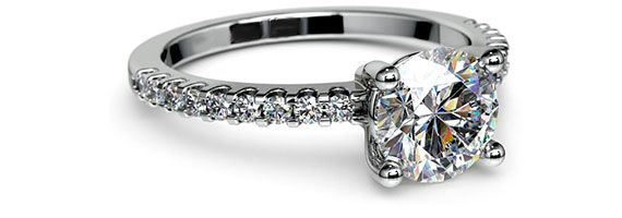 Pave Platinum Preset Engagement Rings