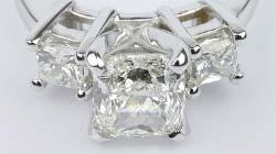Cushion & Princess Diamonds Ring