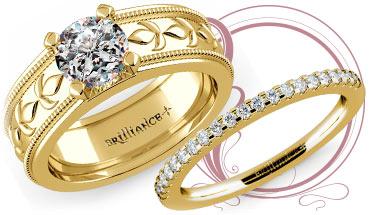 Antique Milgrain Solitaire Ring