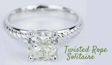 Cushion Solitaire Setting