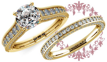 Vintage Milgrain Engagement Ring