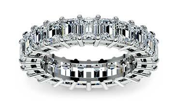 Emerald Diamond Eternity Wedding Band