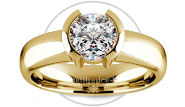 Half Bezel Solitaire Ring