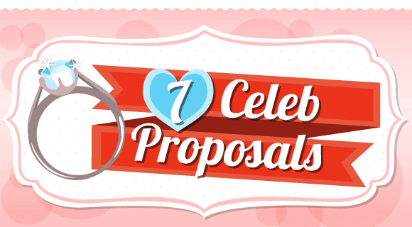 7 Celebrity Proposals Infographic