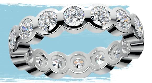 Bezel Diamond Eternity Ring