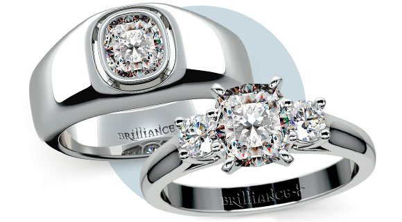 Cushion Cut: His and Hers Set