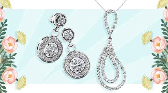 Diamond Set: Earrings & Necklaces