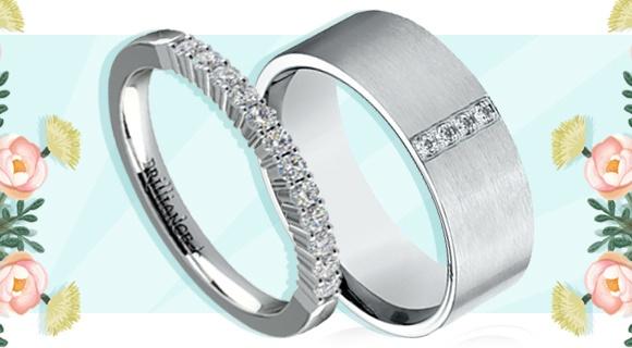 Diamond Set: Matching Wedding Bands