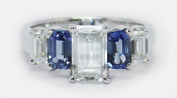 Emerald Cut Gems Concenter Color