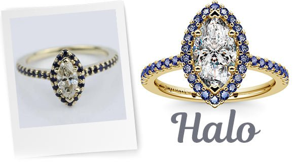 Halo Designs for Marquise Stones