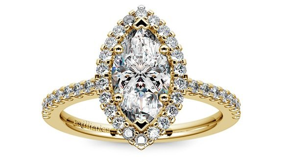 Marquise Diamond Halo