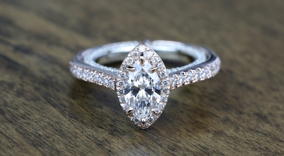 Marquise Diamonds in White Gold