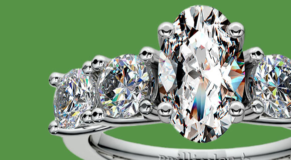 Round Diamond Accented