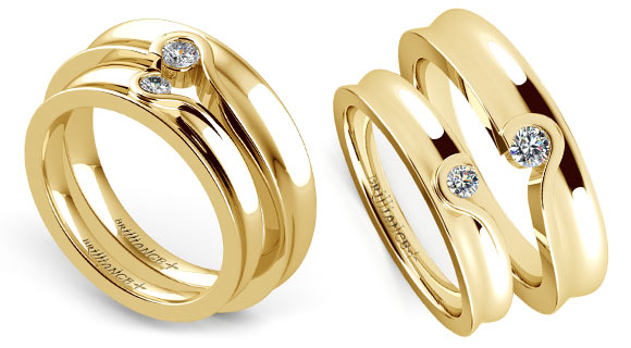 antwerp rings di product gold double court band traditional wedding yellow flat amore
