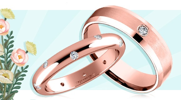 Wedding Bands with Inset Diamond Details