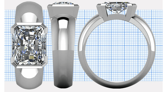 What is a Good Table Size for a Radiant Cut Diamond?