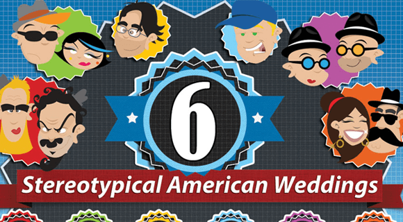6 Stereotypical American Weddings Infographics