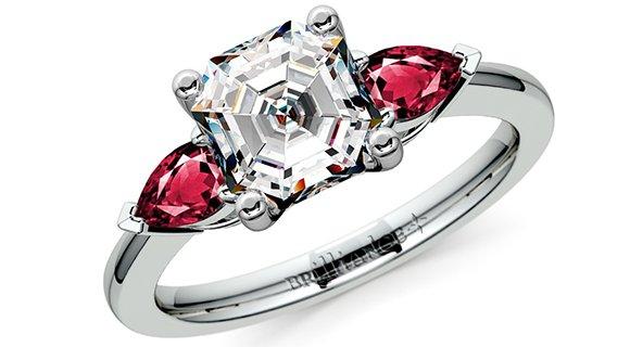 Asscher + Pear Diamonds and Gemstones