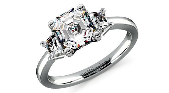 Asscher + Trapezoid Diamonds