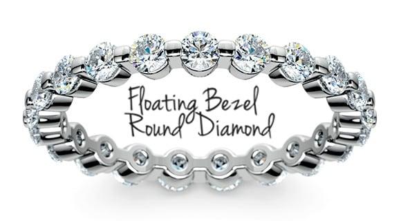 """Bezel & """"Floating Prong"""" Rings"""
