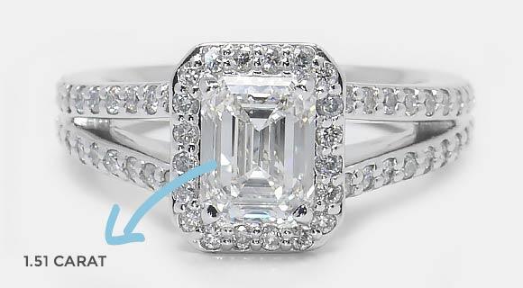 Carat of an Emerald Diamond