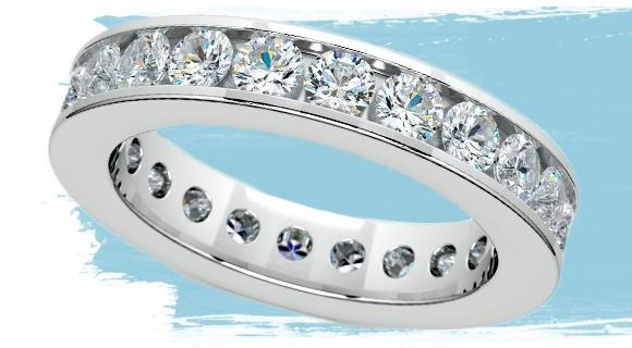 Channel Diamond Eternity Ring