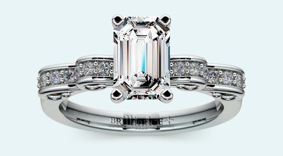 Cinderella Ribbon Diamond Engagement Ring